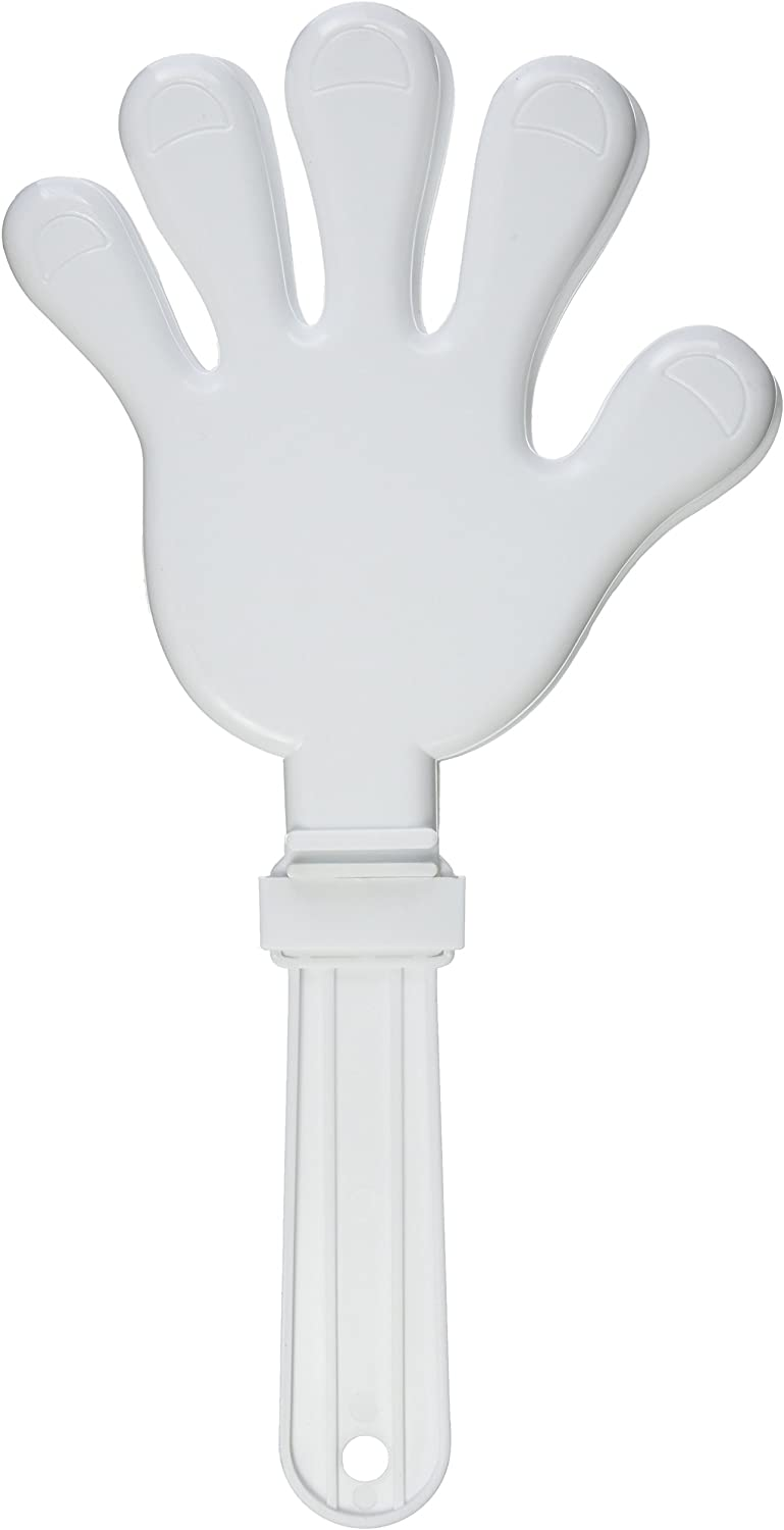 15-Inch Beistle Giant Hand Clapper White