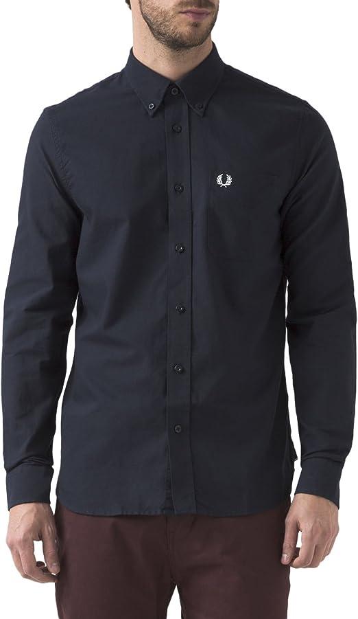 Fred Perry Classic Oxford Camisa de Vestir, Azul (Navy), L ...