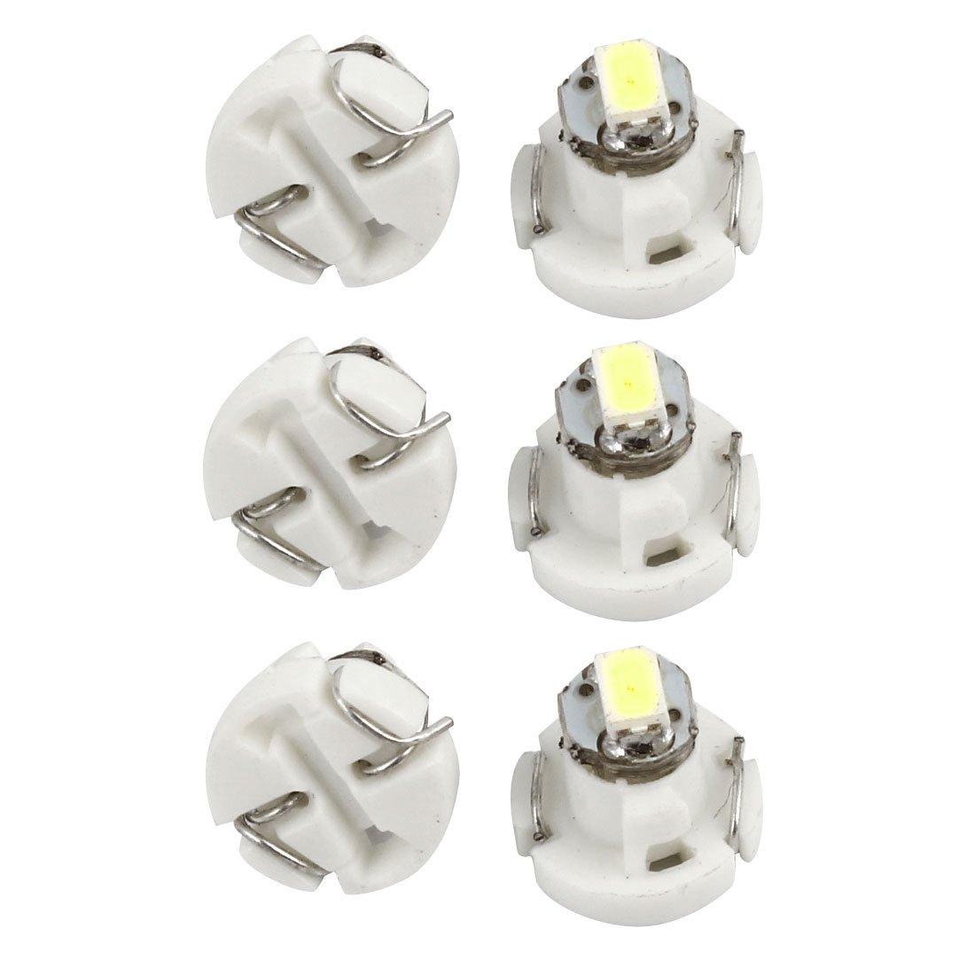 6 piè ces Blanc T3 3020 SMD 1-LED Instrument É clairage Tableau De Bord pour voiture Interne Sourcingmap a14051200ux0684