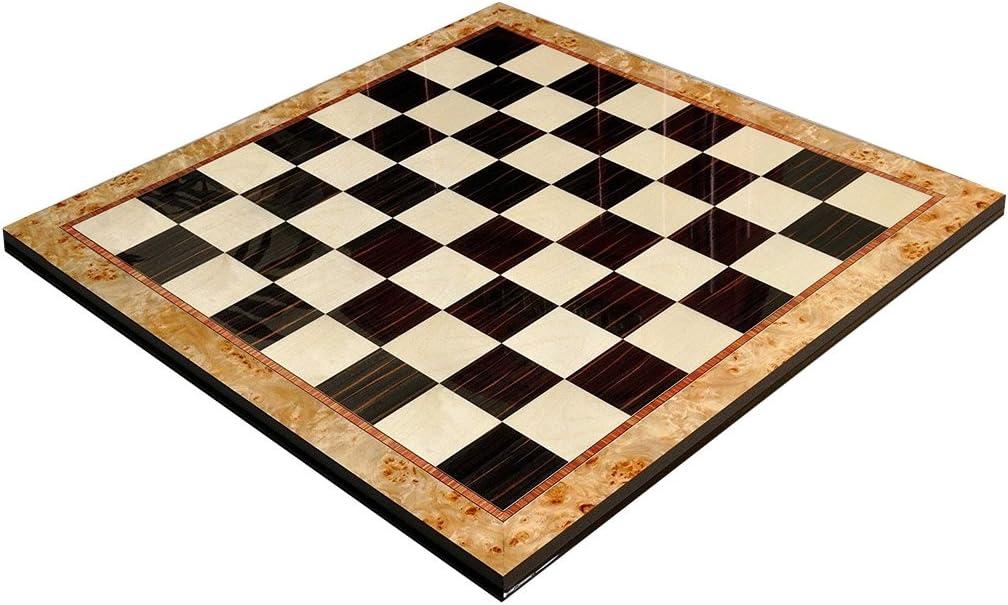 The House of Staunton メープルバール&黒檀 優れた伝統的チェスボード - 2.5インチ正方形