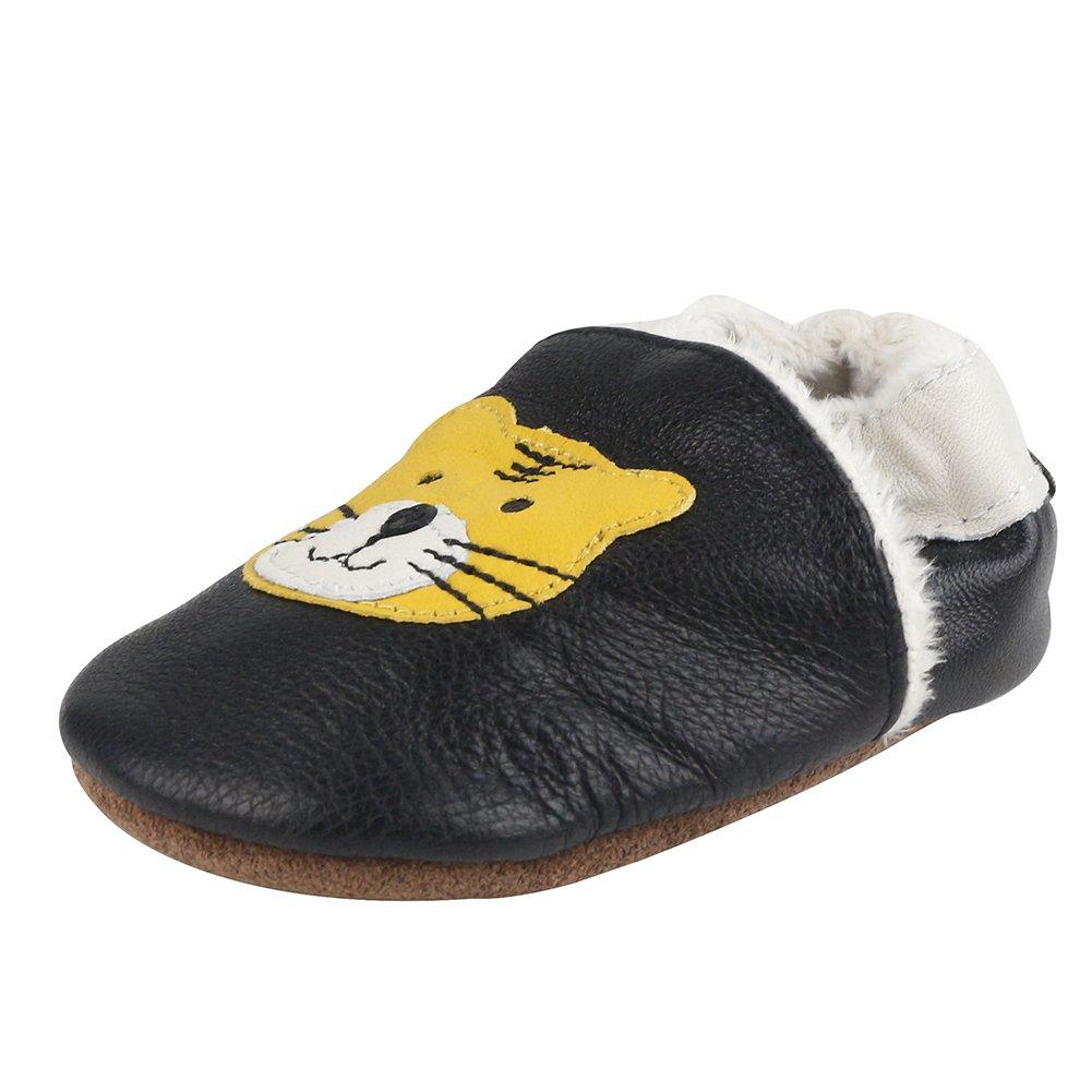 wholesale dealer b120c ccf26 LSERVER Chaussures de bébé en cuir souples Hiver Chaude Chau