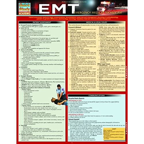 emt study guide amazon com rh amazon com emt basic study guide free emt basic study guide free