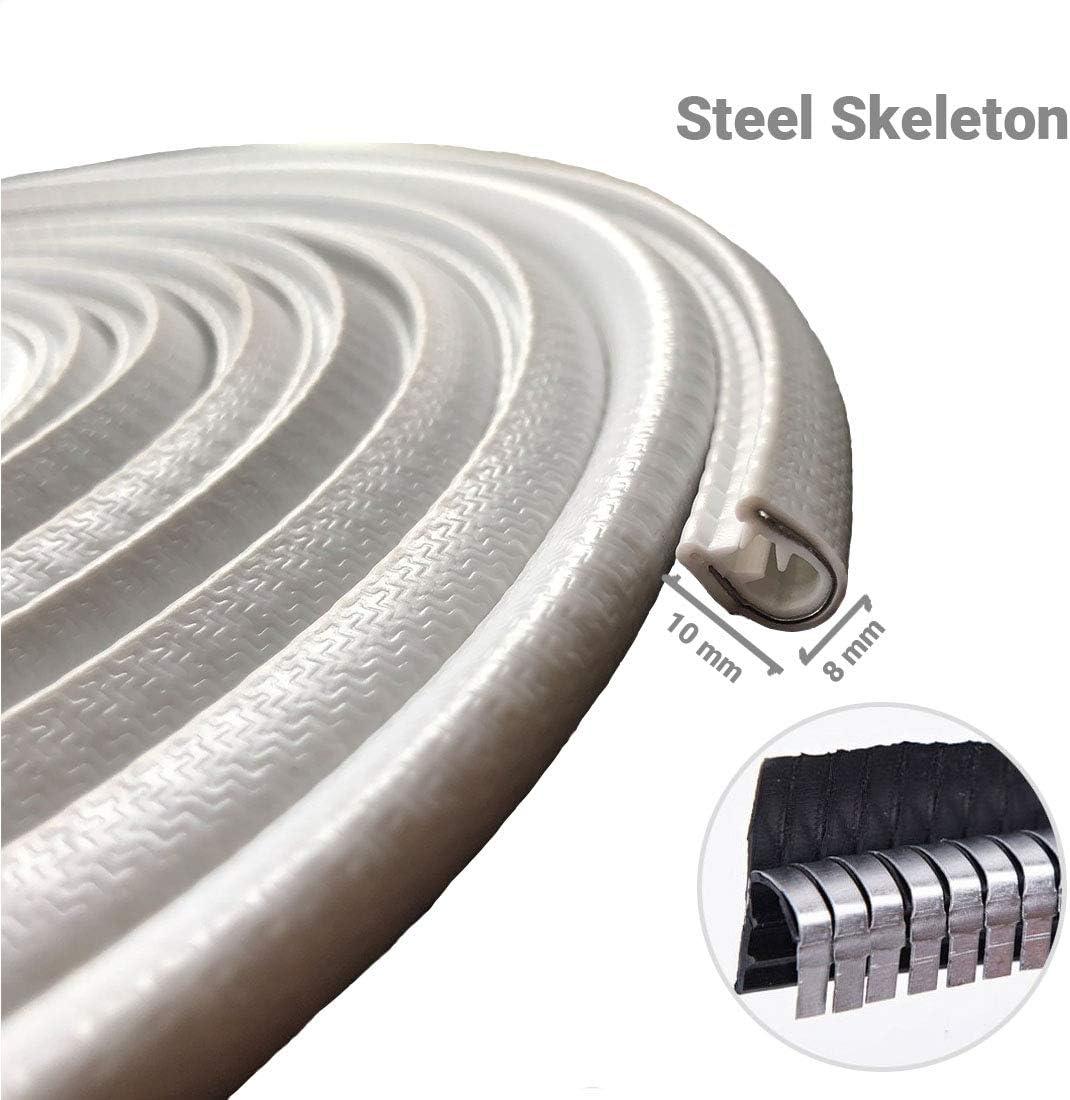 For Cars Metal Edges U Shape Rubber Seal Protector Guard Strip Ozkak 5M Car Door Protectors Edge Guards