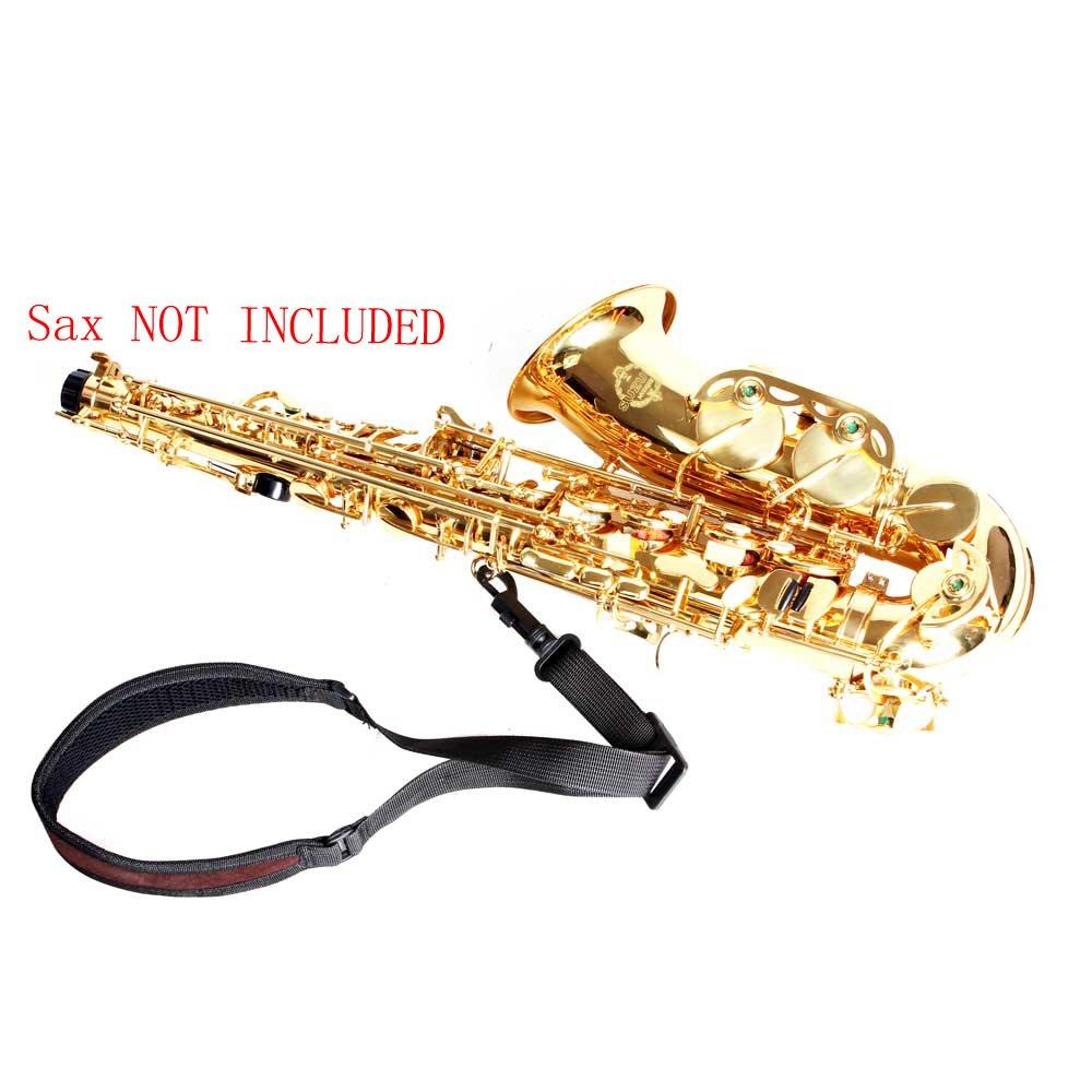 ammoon Correa de saxo Ajustable de Saxof/ón Sax para el cuello de la correa de algod/ón acolchado con cierre de gancho