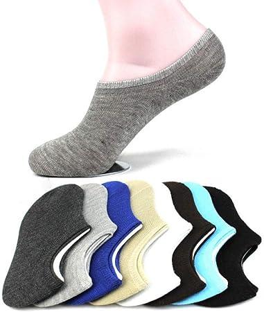 ZKZK Calcetines de algodón para Hombre 10 Pares Color Puro algodón Hombres Calcetines del Deslizador de Verano antifricción Barco de la Manera Invisibles Calcetines de los Hombres: Amazon.es: Hogar