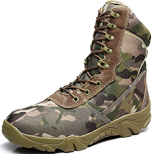 BE-DREAMER-Mens-Delta-Tactical-Boots-Side-Zipper-8-Inches-Camouflage-Military-Army-Outdoor-Hiking-Shoes