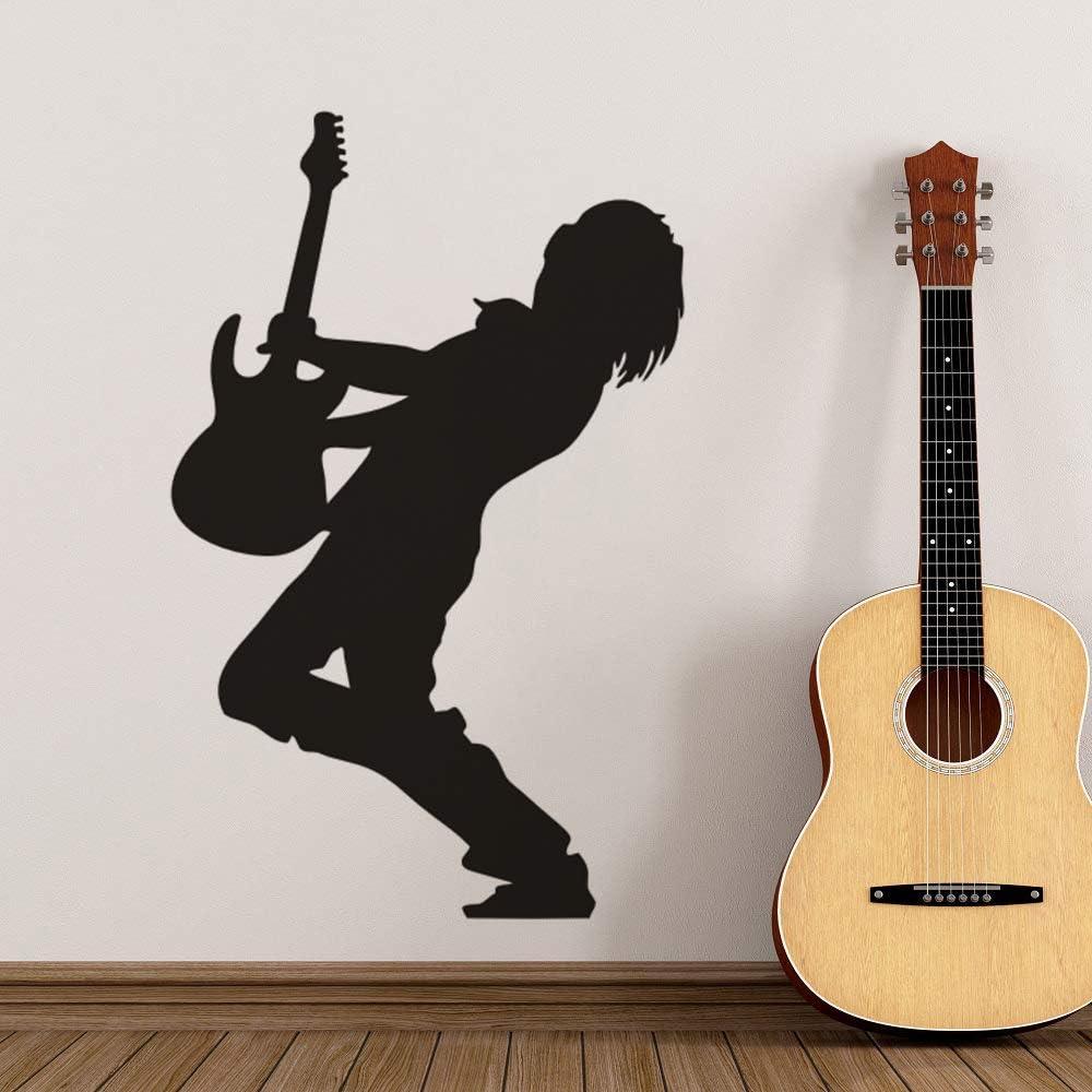 zqyjhkou Guitarrista eléctrico Pegatinas de Pared Guitarrista ...