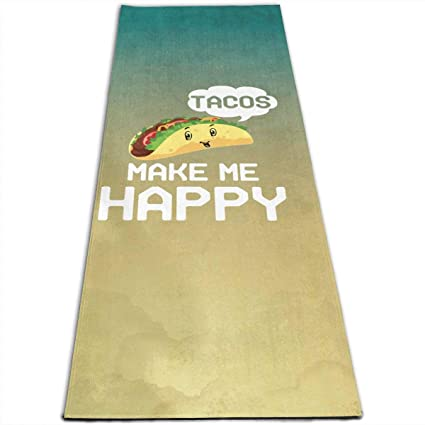 Amazon.com : Zhangyi Tacos Make Me Happy Love Food Funny ...