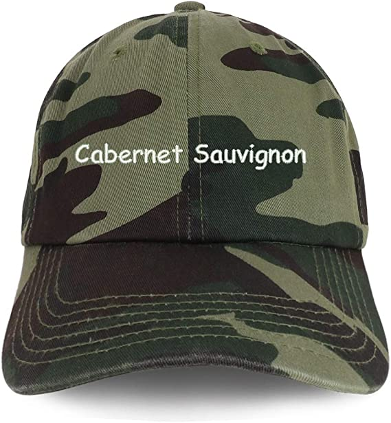 Trendy Apparel Shop Cabernet Sauvignon Embroidered 100% Cotton Adjustable Cap Dad Hat