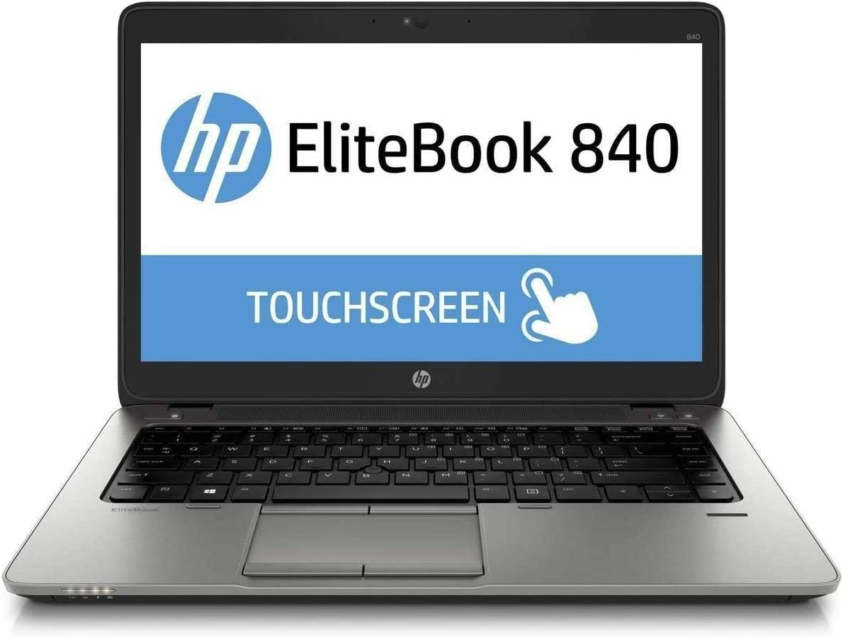 "HP EliteBook 840 G2 14"" FHD Touchscreen Business Laptop Computer, Intel i5-5300U, 16GB RAM, 256GB SSD, USB 3.0, Backlit Keyboard, Fingerprint Reader, Webcam, USB 3.0, Windows 10 Professional (Renewed)"