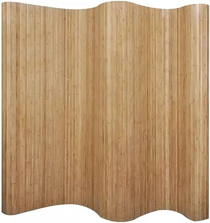 vidaXL Room Divider Bamboo Dark Brown 250x195 cm
