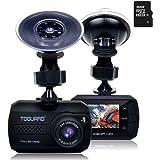 TOGUARD Mini Dashboard Camera Car Driving Recorder Full HD 1080P Dash Cam, Motion Detection,16GB Micro SD Card Included