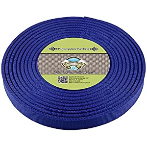 Country Brook Design | Royal Blue Polypropylene 3/4 Inch Webbing (25 Yards)