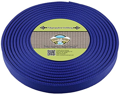 Country Brook Design 3/4 Inch Royal Blue Polypro Webbing, 25
