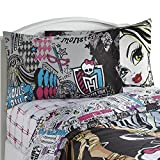 Mattel Monster High Dolls Twin Sheet Set The In Crowd Frankie Stein Cotton Rich Bedding Accessories