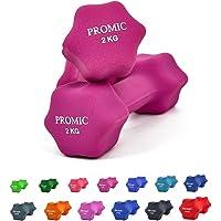 PROMIC 0.5kg - 10kg Neoprene CoatedDumbbell Weights Fitness