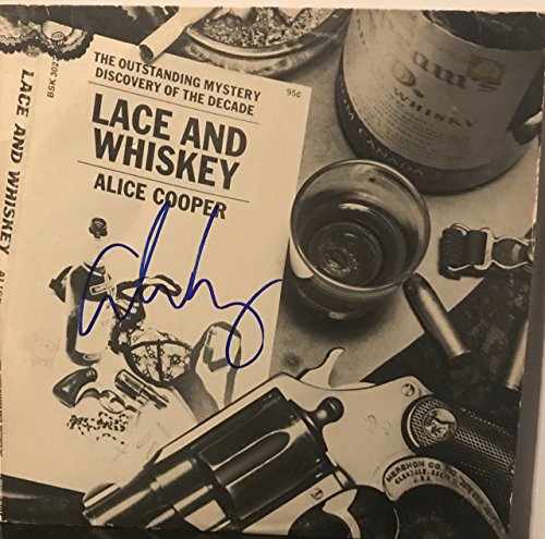 """Alice Cooper signed Lace and Whiskey 12"""" lp"""
