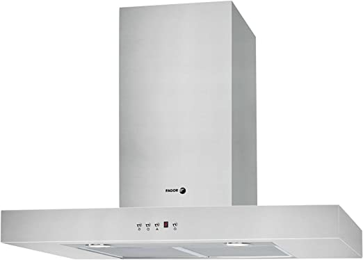 Fagor CFB-70AX - Campana (Recirculación, 800 m³/h, Montado en pared, Halógeno, Acero inoxidable, 2 piezas): Amazon.es: Grandes electrodomésticos