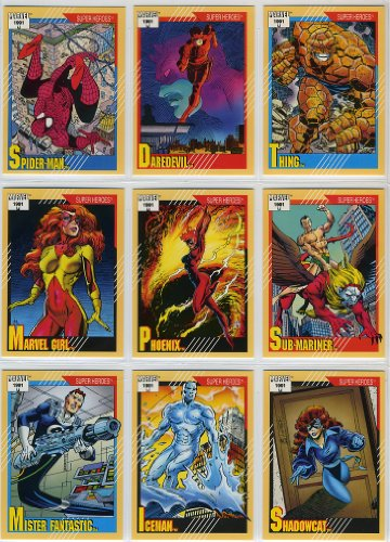 1991 Impel Marvel Universe Series-II 162-Card New Complete Base Set in Collector Pages]()