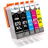 LxTek Compatible Canon 670XL PGI-670 XL 671XL CLI-671 XL Ink Cartridges for Canon PIXMA MG5760 MG5765 MG6860 MG5766 MG6865 MG7760 MG7765 MG7766 TS5060 TS6060 TS8060 TS9060 Printer