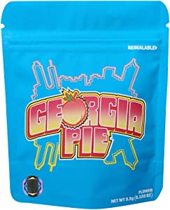 Mylar Bags Smell Proof Mylar Bags Resealable Stand-up Ziplock Foil Bags Safe Plastic Aluminum Material Include Tags (25,Georgia Pie)