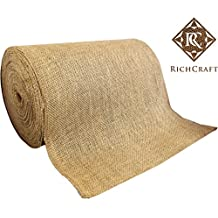 """14"""" x 50yd NO-FRAY NO-MESS Burlap Table Runner Roll ~ 14"""" Wide x 50 Yards Long Table Runner Fabric w/ FINISHED Edges. Perfect for Weddings, Placemat, & Crafts. Decorate Without the Mess!"""