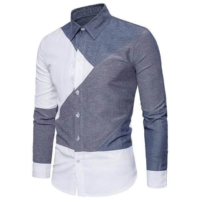 Amazon.com: Islandse❤ Camiseta de manga larga para hombre ...