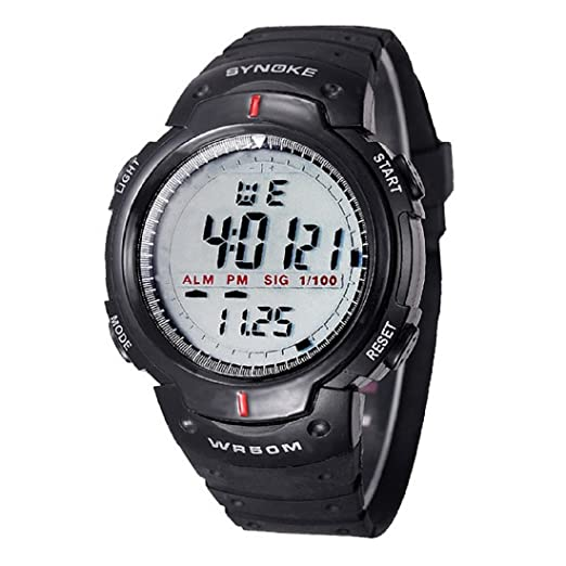 43897ed6db35 Hombres deportes Reloj - SYNOKE Hombres digital Reloj LED deportes cuarzo alarma  fecha reloj de pulsera