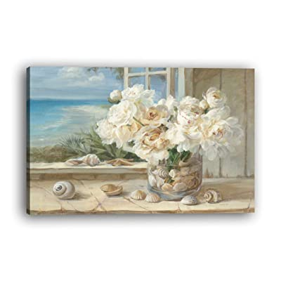 bienddyicho 212 PH-255 Impresiones de la Lona Pintura Home Room Decor Picture Wall Art Poster Combinación Poster Flor Blanca para Lechao -Negro: Juguetes y juegos