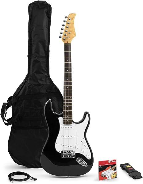 Tiger Music EGT2 - Guitarra eléctrica (madera dura), color negro ...