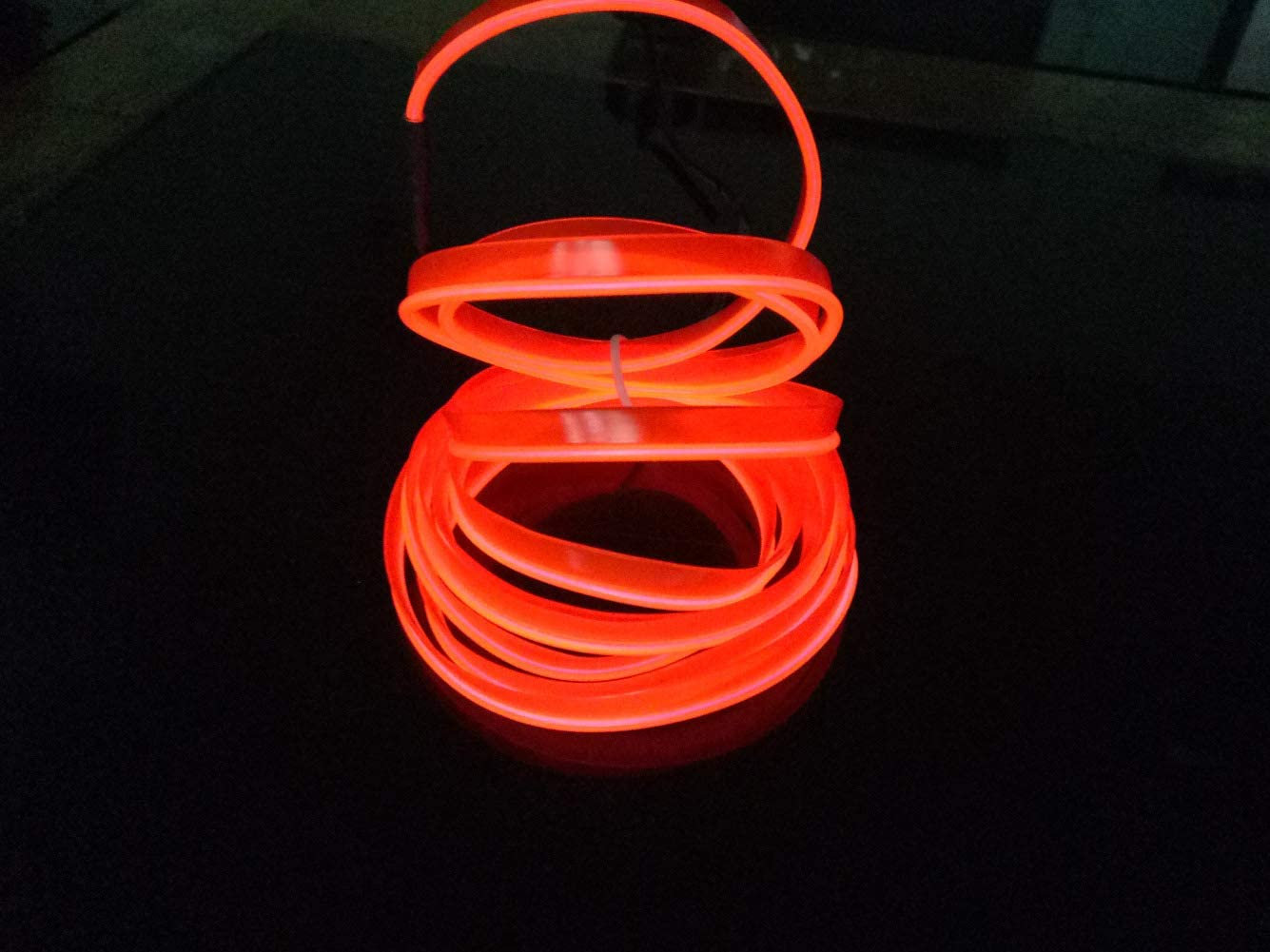 Gelb El Drahtseil Lichter 5mt//16ft 12V Neon Atmosph/äre Glowing Strobing Elektrolumineszenzlicht Glowing Neon Lichter F/ür Autosicherheit Fahren