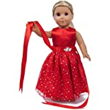 Outfit Dress Christmas Ches 18/'/' for American Girl Our Generation My Life Dol