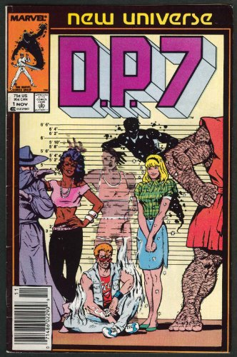 DP7 #1 Marvel New Universe comic book 11 1986 by The Jumping Frog