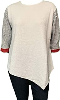product image for Reversible Asymmetric Tunic Sweater - Plus XL-2X Great for Oval Shapes