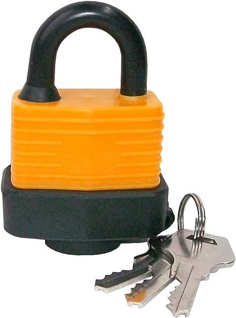CON:P B34217 Vorhangschloss wassergesch/ützt 30 mm orang