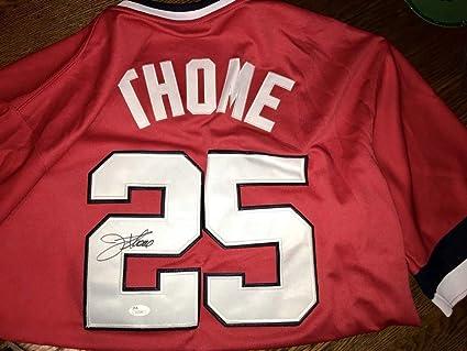 size 40 f7551 1773d Jim Thome Autographed Autograph Cleveland Indians Jersey JSA ...