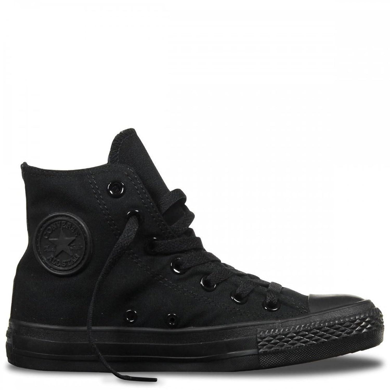 Converse Unisex Chuck Taylor All Star Hi Top Sneaker (6.5 B(M) US Women / 4.5 D(M) US Men, Black Monochrome)