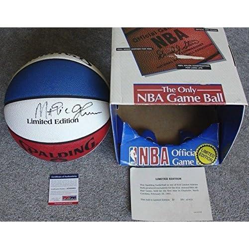 dc7cb0e3e25 Spalding 1991 NBA All-Star Game Money Ball Basketball Signed Autograph Magic  Johnson PSA