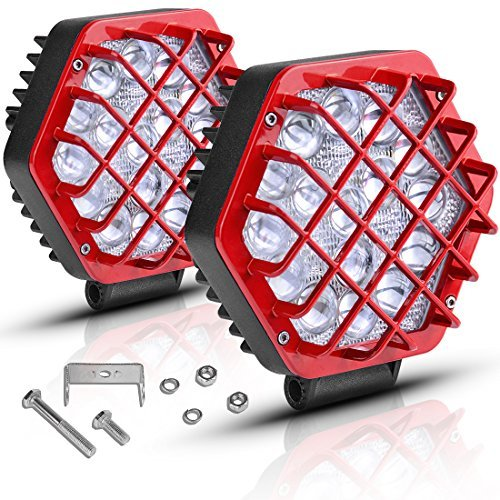 AUTOSAVER88 5 Led Light Podsc 48W 5D Led Cubes 4800LM Offroad Fog Driving Lights for Truck Pickup Jeep Boats SUV ATV UTV, 2 years Warranty