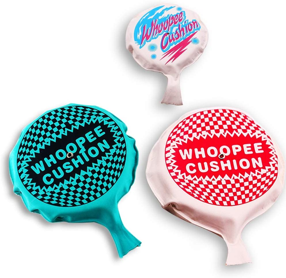 POPLAY 3 Pack Novelties Mega Whoopee Cushion Fun Prank Toy 6 and 8 inch for Joke Party Gift