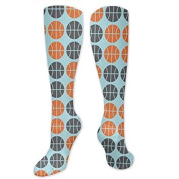 ouyjian Calcetines de Baloncesto de Color Naranja Gris ...