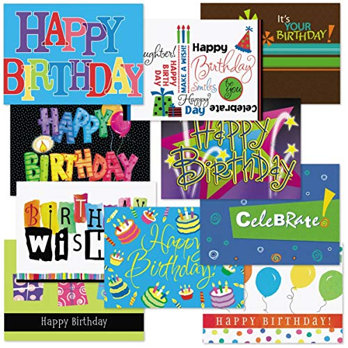 Business Birthday Card Assortment VI, 5 Inch x 7 Inch Cards, Preprinted Sentiments, 20 Cards and ()