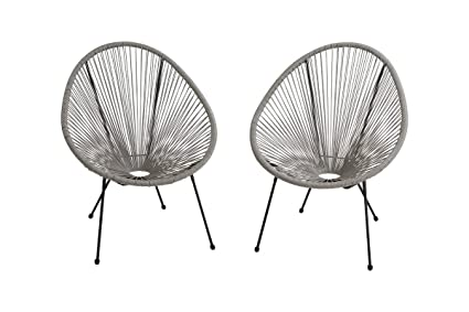 Awesome Amazon Com Century Modern Outdoor All Weather Wicker Frankydiablos Diy Chair Ideas Frankydiabloscom