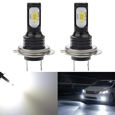 KATUR H7 LED Fog Light Bulbs Extremely Bright 2400 Lumens Max 75W High Power LED for Daytime Running Light DRL or Fog Lights, Xenon White (H7 White): Automotive