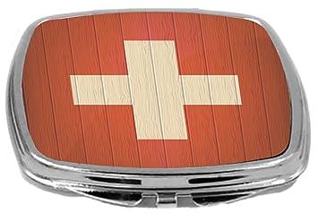 Rikki Knight Compact Mirror 3 Ounce Orange Medical Doctor Symbol