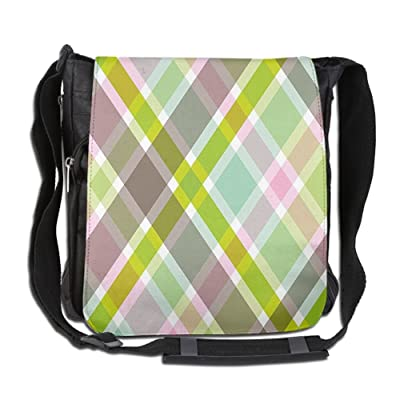 Lovebbag Colorful Stripes Parallel Diagonal Artistic Lines Retro Groovy Fashion Pattern Crossbody Messenger Bag