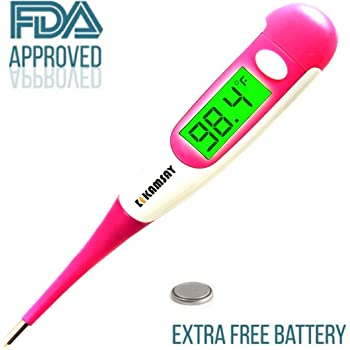 Best FDA Digital Medical Thermometer,Easy Accurate and Fast 10 Second Read Fever Body Temperature, Flexible Tip,Waterproof for Baby,Kids, Adults, Pets,Oral, ...