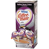 Liquid Coffee Creamer, Italian Sweet Creme, 0.375 oz Cups, 50/Box, Sold as 1 Box