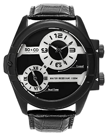 SO & CO New York 5209.1000000000004 - Reloj de Pulsera Hombre, Color Negro