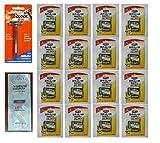 7 O'Clock PII Trac II Razor + Schick Super II Plus Razor Blade Cartridges 5 ct. (Pack of 20) with FREE Loving Color trial size conditioner